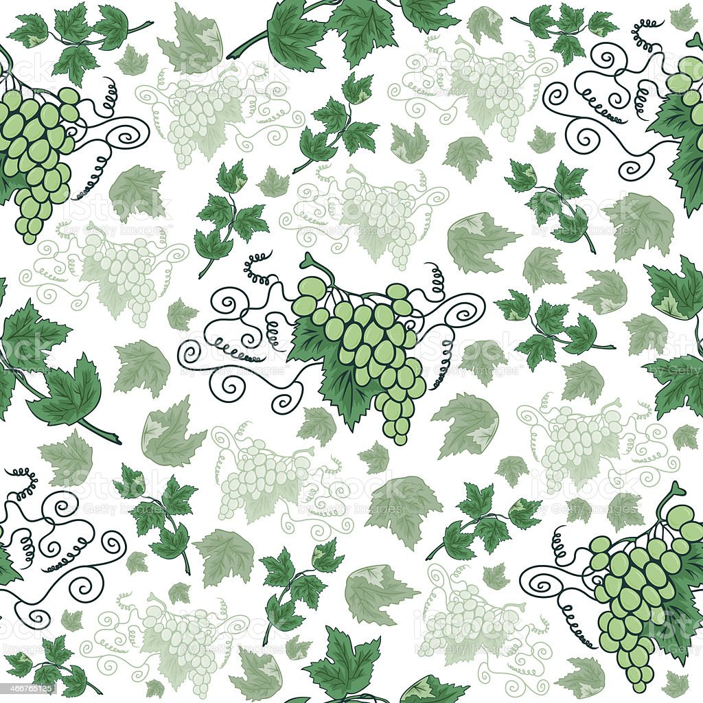 Illustration of seamless background from bunches of grapes