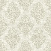 Light gray, beige patterns. Texture of burlap, coarse weaving, linen, canvas. Vintage style. Square repeating print of wallpaper, textiles, wrapping. Vector.