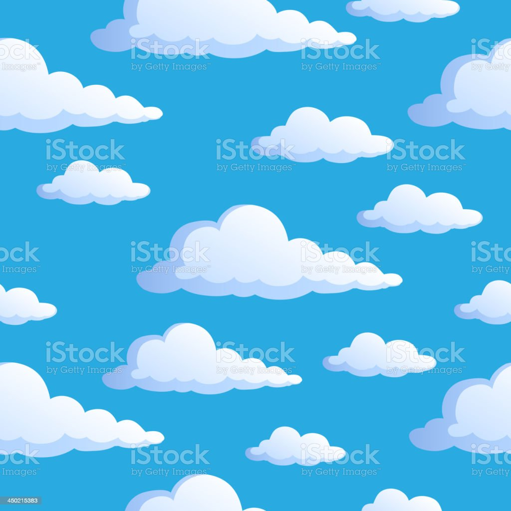 Seamless background with clouds 1 vector art illustration