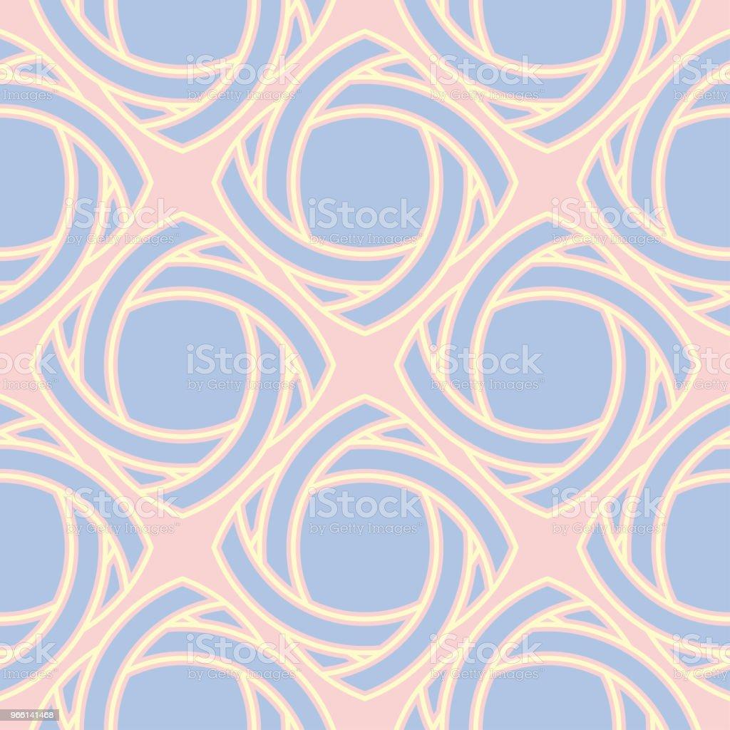 Sömlös bakgrund med färgade geometriska mönster. Rosa, blå och beige inslag - Royaltyfri Abstrakt vektorgrafik