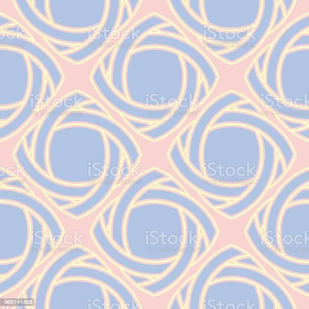 Sömlös Bakgrund Med Färgade Geometriska Mönster Rosa Blå Och Beige Inslag-vektorgrafik och fler bilder på Abstrakt