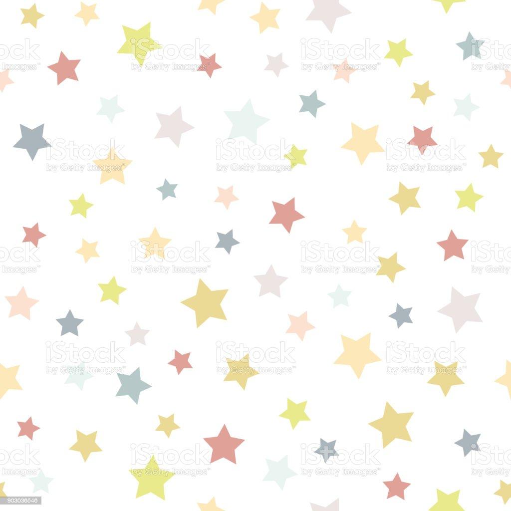 カラフルな星とシームレスな背景 ベクターアートイラスト