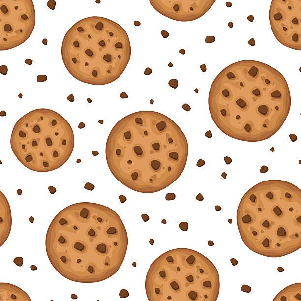 ilustrações de stock, clip art, desenhos animados e ícones de sem costura fundo com os'cookies'. ilustração vetorial. - bolacha