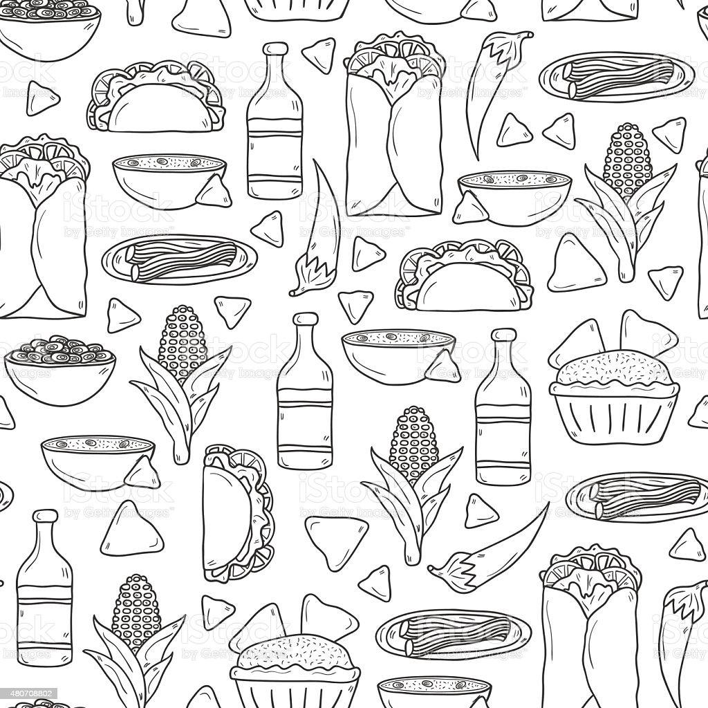 Fondo Sin Costuras Con Adorables Dibujos Animados Dibujados A Mano ...