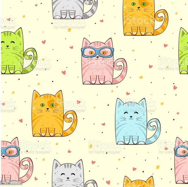 Seamless background with cute cats and hearts vector id1031600882?b=1&k=6&m=1031600882&s=612x612&h=fzmsozk3a1mt0rv5chukjcrpcuci32t6hjtvnp5lueu=