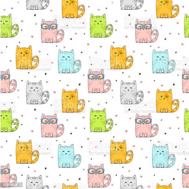 Seamless background with cute cats vector id1031600810?b=1&k=6&m=1031600810&s=612x612&h=oidyg7xhv5cpvpnta96cn5sho9 xgobmawqt7tdobsq=