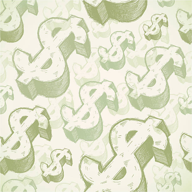 seamless background with dollar signs - money 幅插畫檔、美工圖案、卡通及圖標