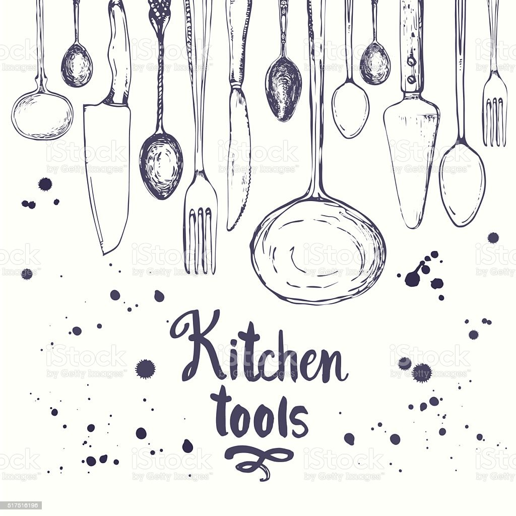Beau Best Kitchen Utensil Illustrations, Royalty Free Vector ...