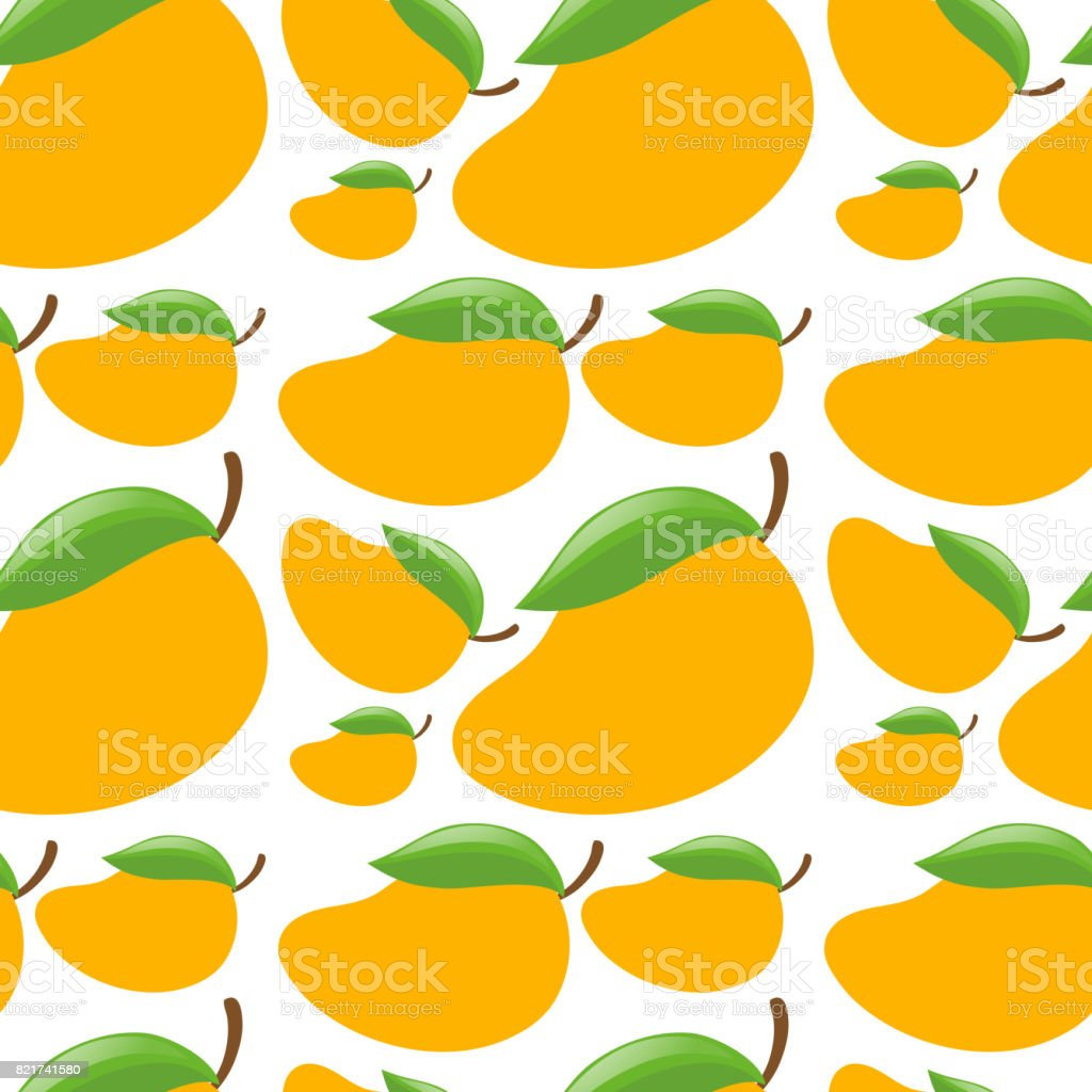 Seamless Background With Fresh Mangoes Stock Vector Art & More