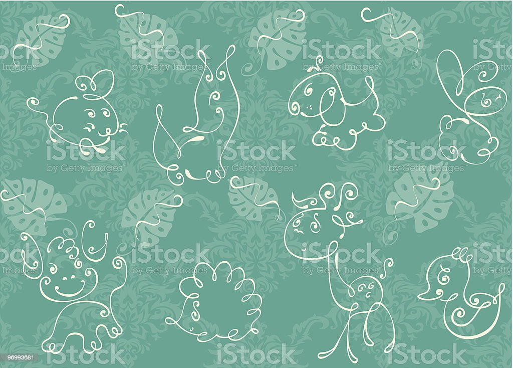 Seamless background with funny animals royalty-free seamless background with funny animals stock vector art & more images of abstract
