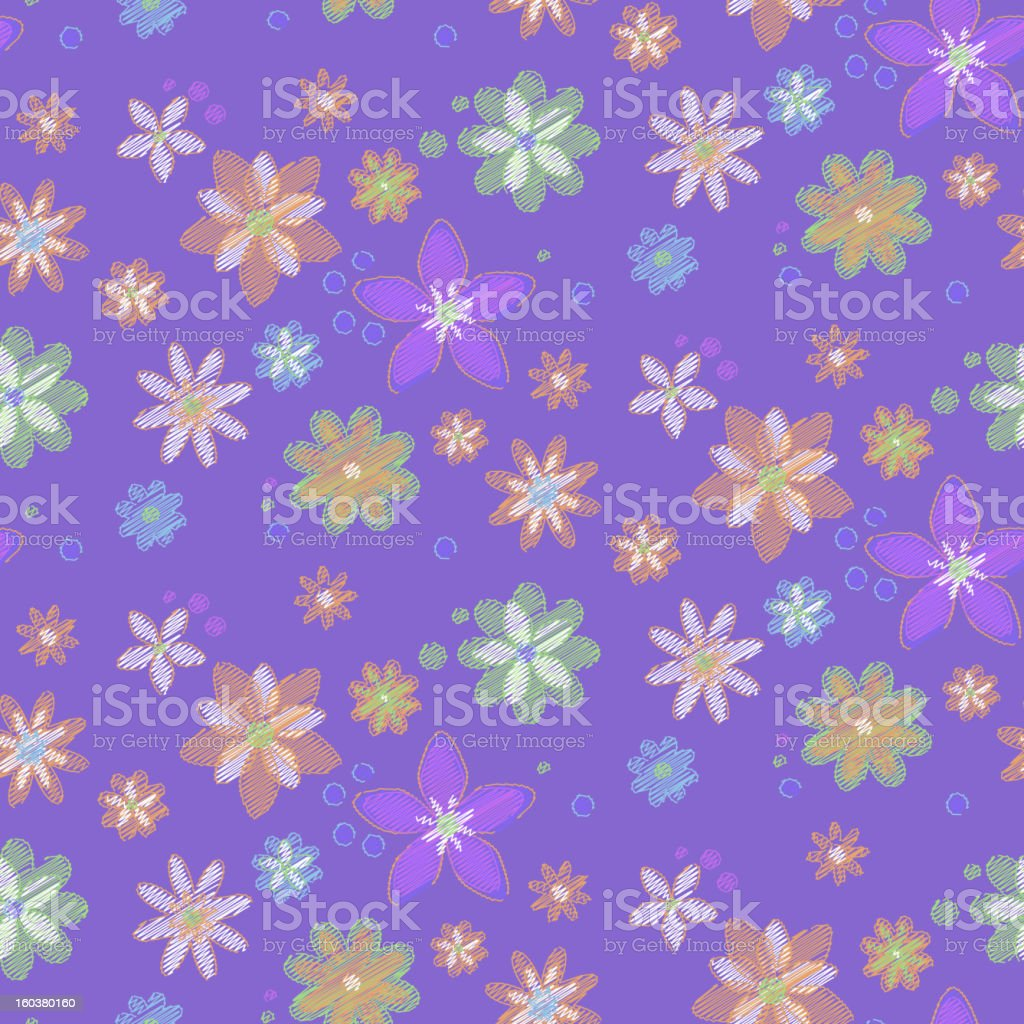 Seamless background with hand-drawn flowers royalty-free seamless background with handdrawn flowers stock vector art & more images of abstract