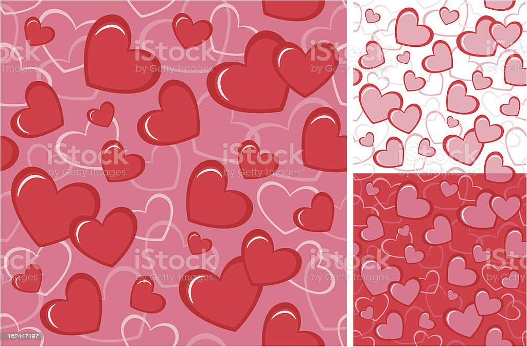 Seamless background with hearts royalty-free stock vector art