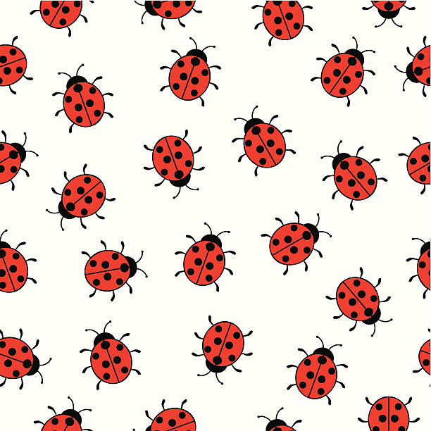 Bezszwowe tło z ladybugs – artystyczna grafika wektorowa