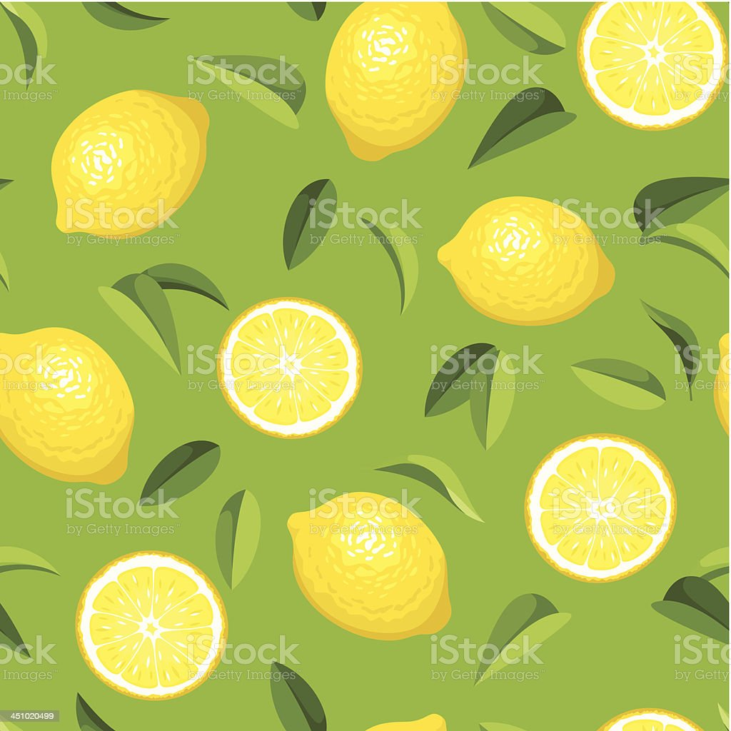 Seamless background with lemons. Vector illustration. royalty-free stock vector art