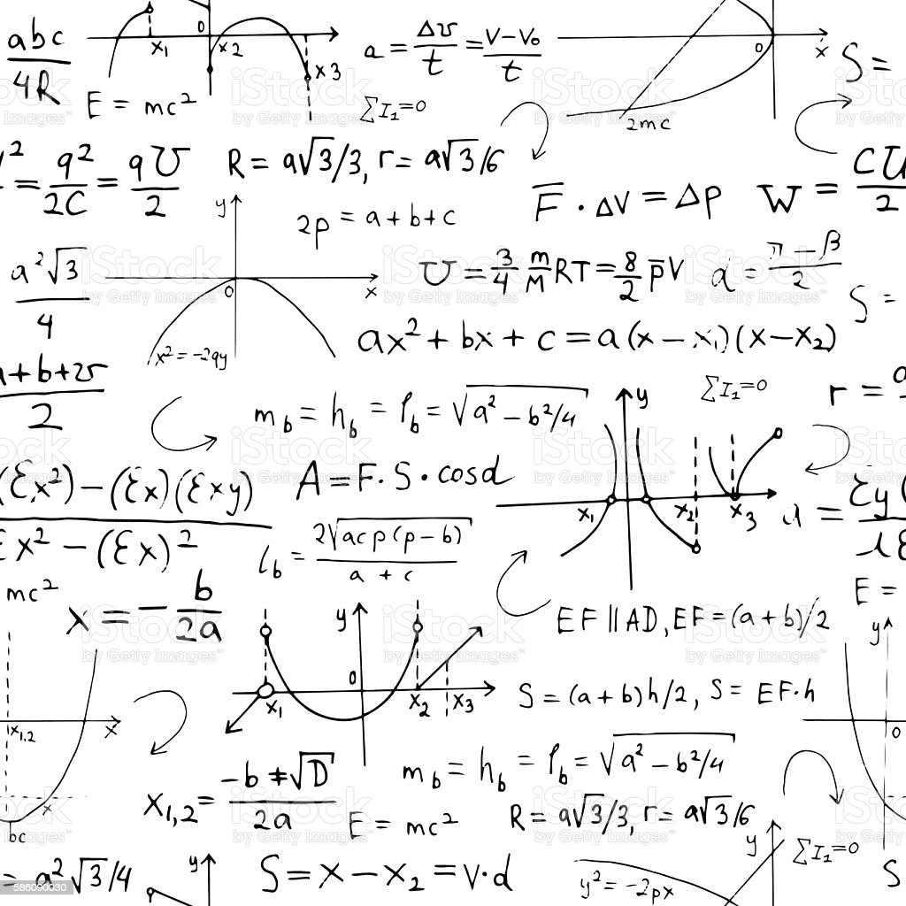 Seamless background with math formulas and graphics on white stock seamless background with math formulas and graphics on white royalty free seamless background with math biocorpaavc