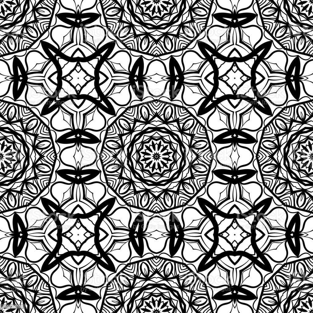 Seamless Background With Modern Design Floral Mandala Ornament