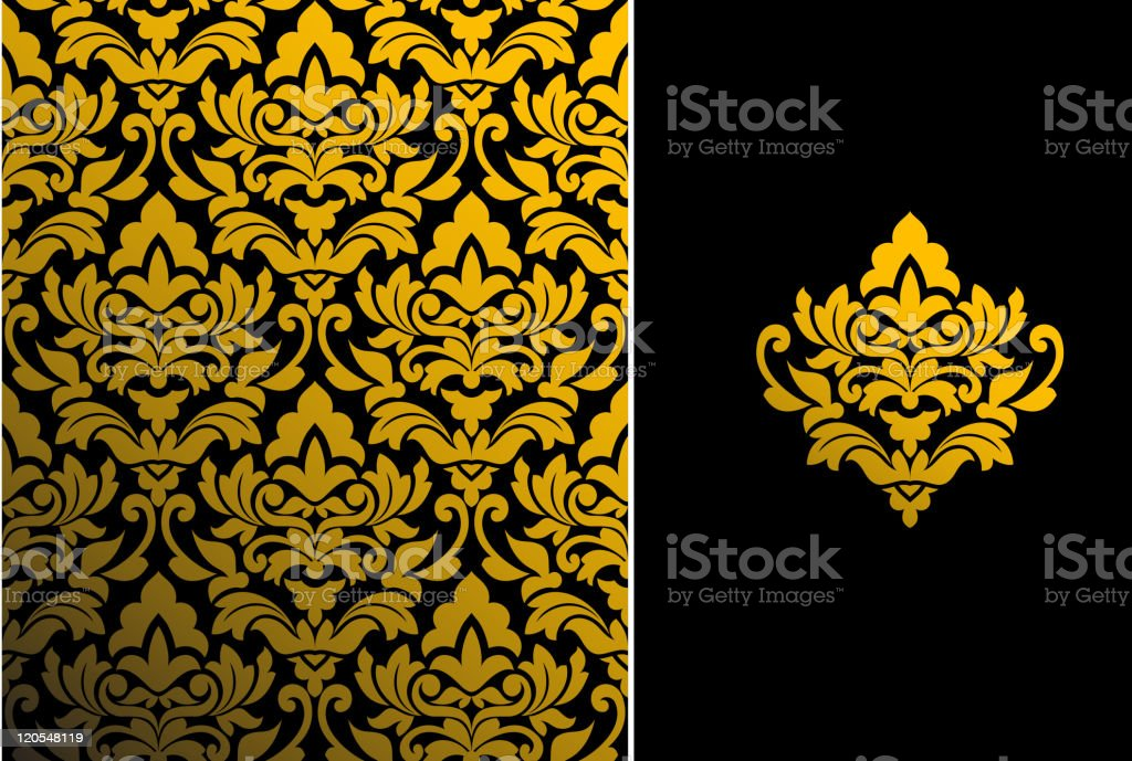Seamless background with pattern vector art illustration