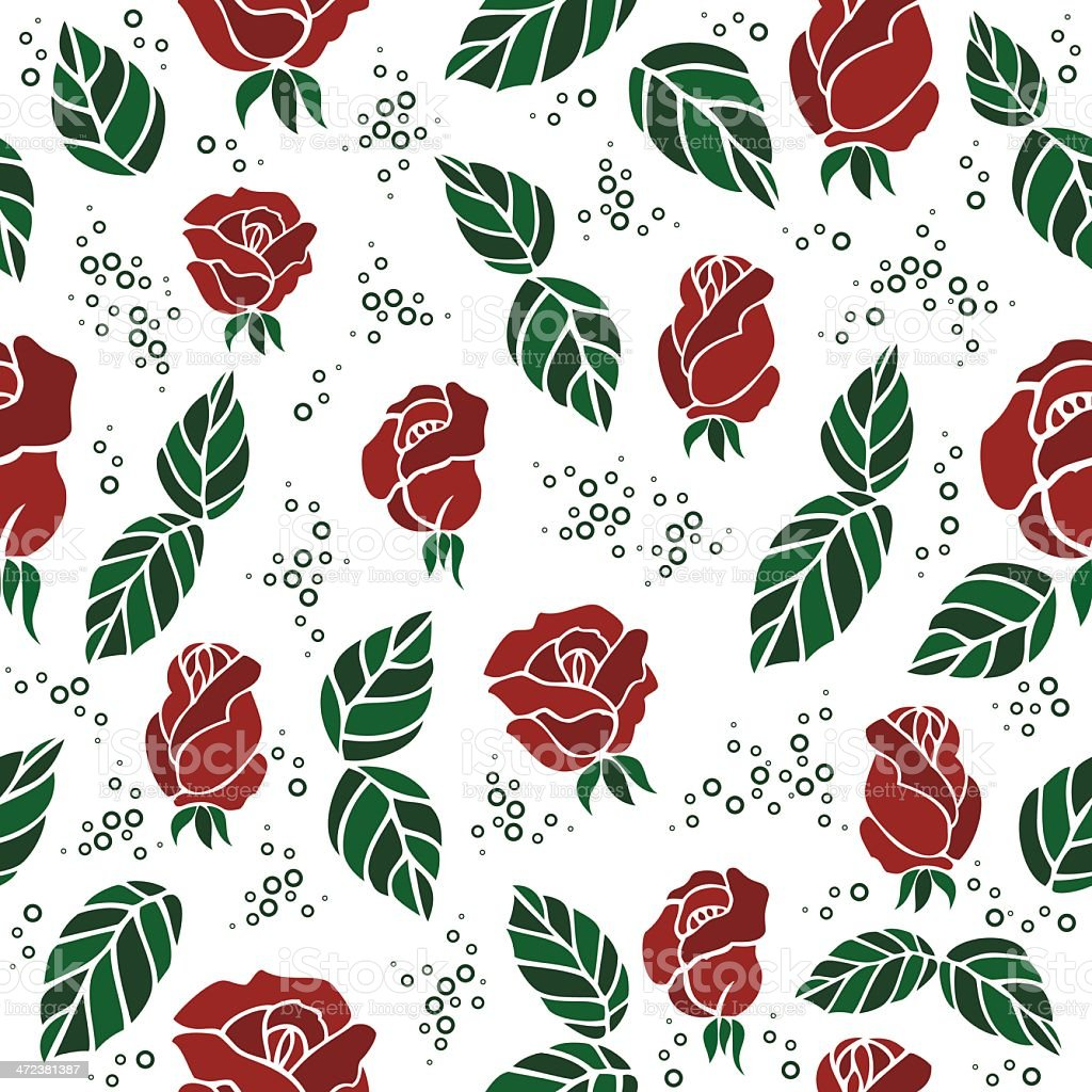 Seamless background with roses royalty-free stock vector art
