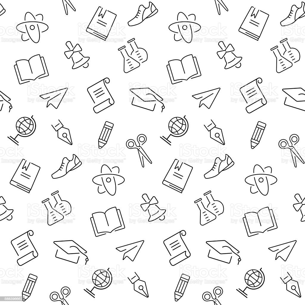 Seamless background with school object icon and symbols vector seamless background with school object icon and symbols vector illustration royalty free seamless background buycottarizona Image collections