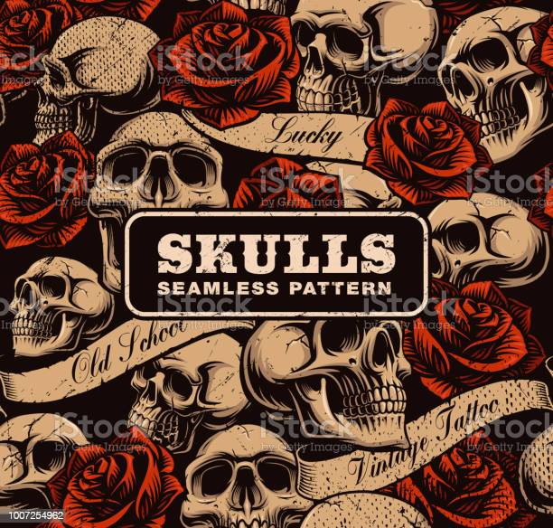 Seamless background with skulls vector id1007254962?b=1&k=6&m=1007254962&s=612x612&h=awzheunpgtiondl27r140zghq3gslhemh5p1zytlfxw=