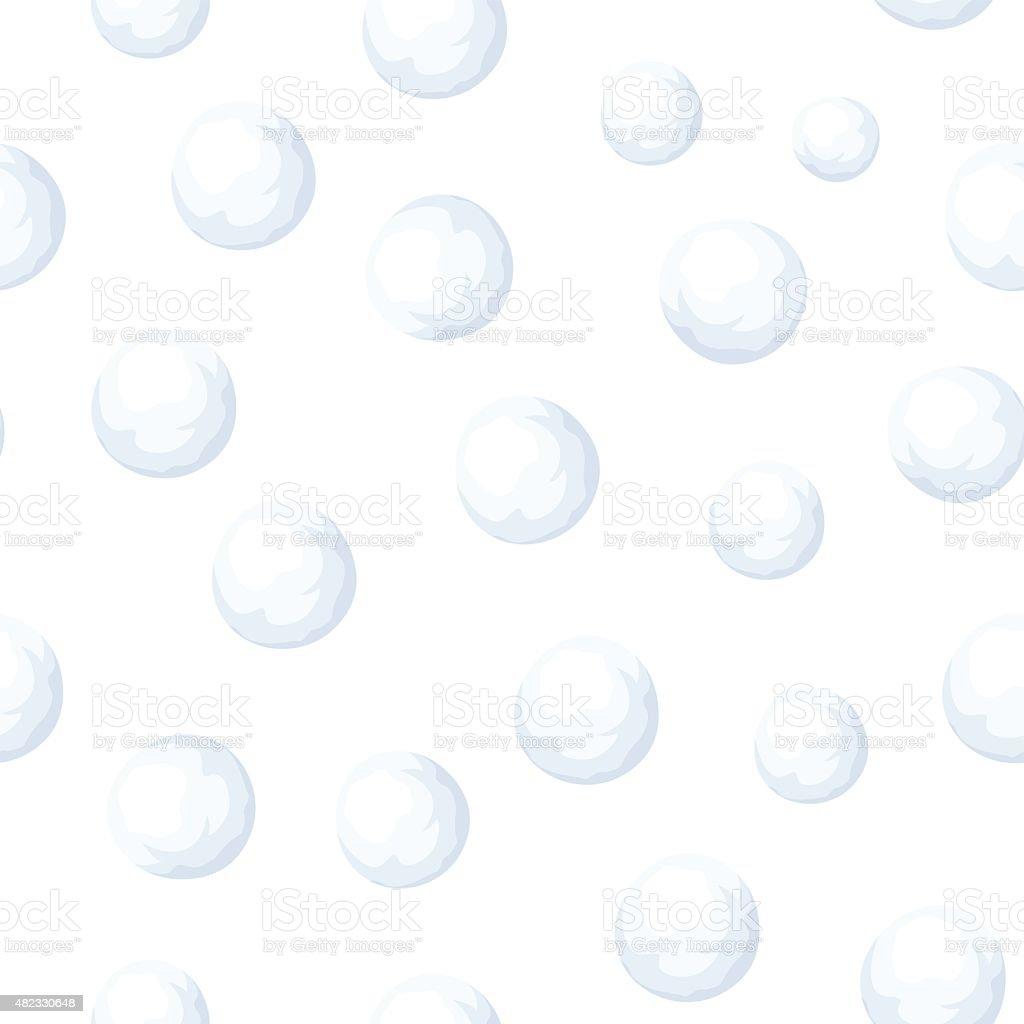 Sem costura fundo com bolas de neve. Ilustração vetorial. - ilustração de arte em vetor