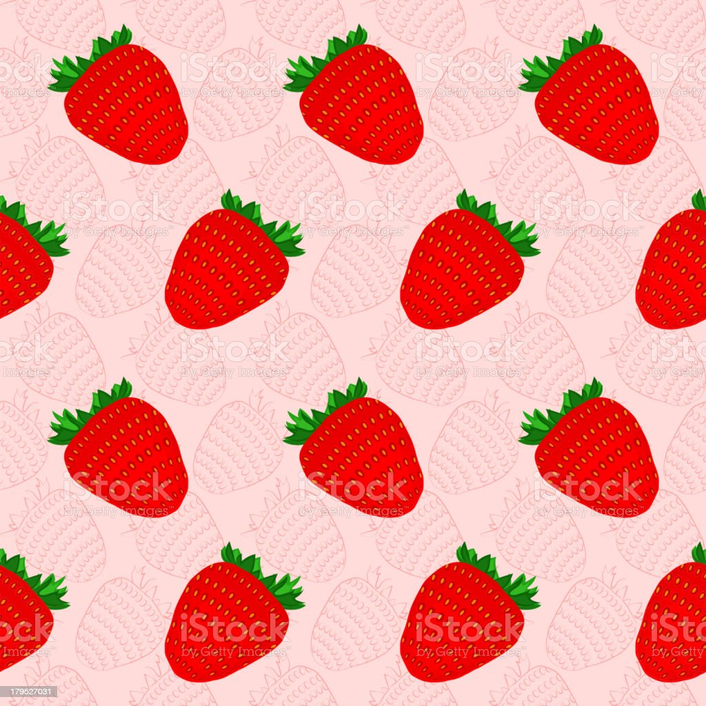 Seamless background with strawberries royalty-free stock vector art
