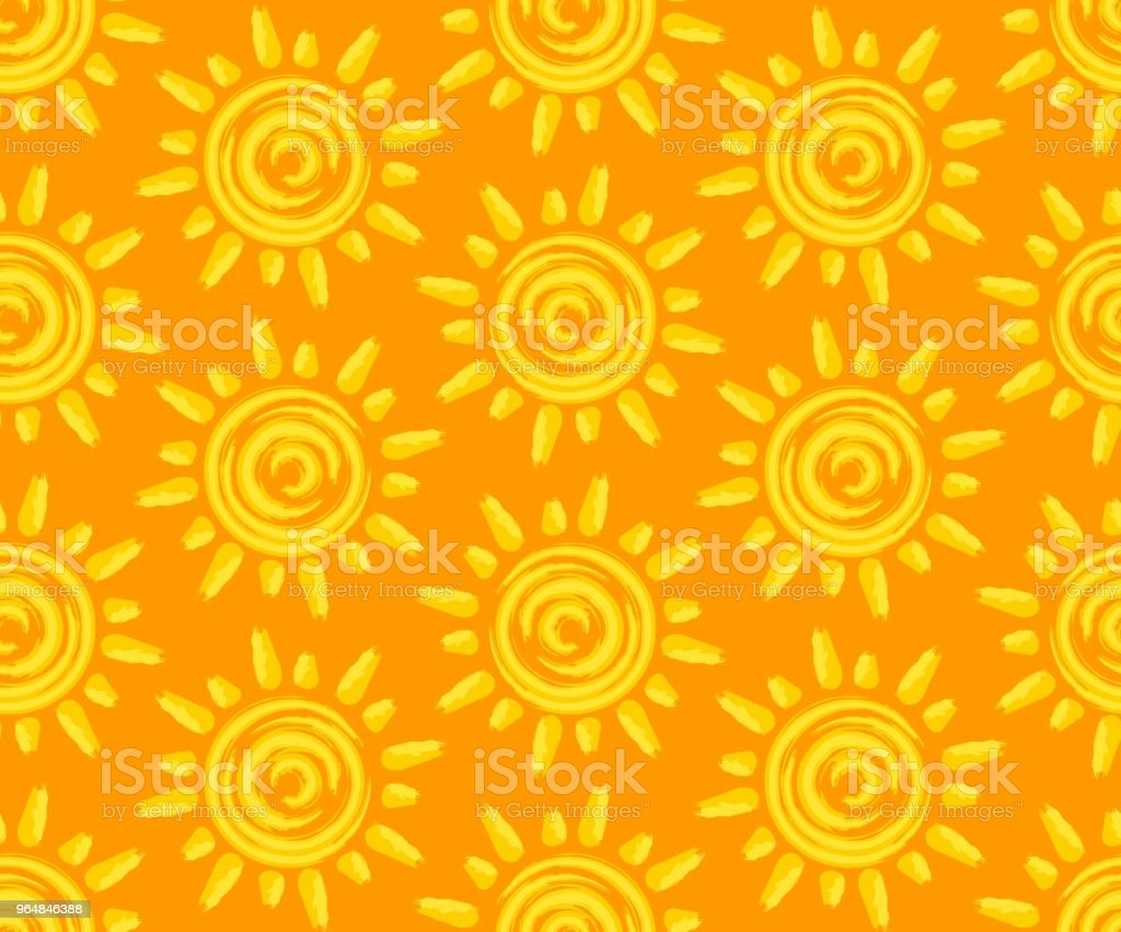 Seamless background with sun. royalty-free seamless background with sun stock vector art & more images of backgrounds