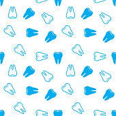Seamless background with Teeth. Vector illustration. Abstract Teeth pattern.