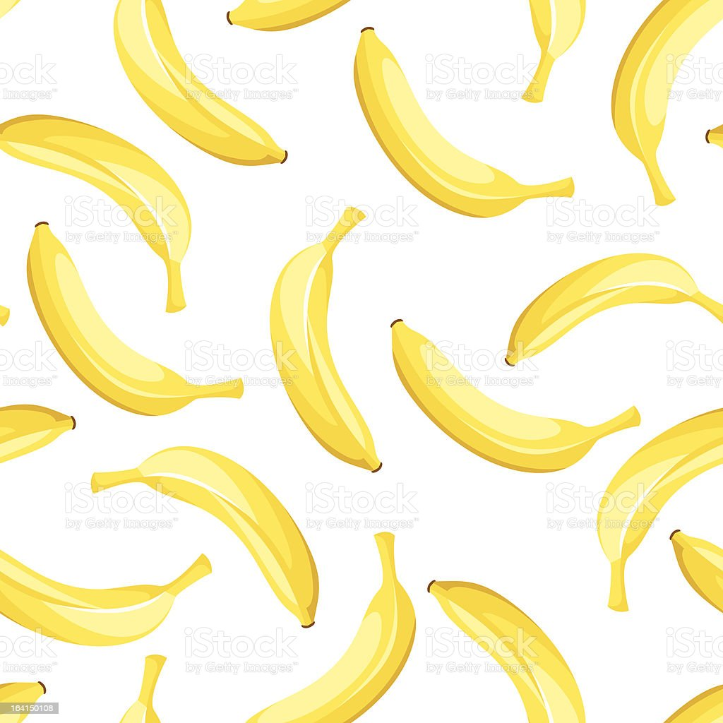 Seamless background with yellow bananas. Vector illustration. vector art illustration