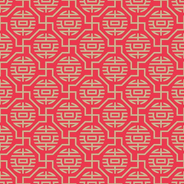 bezszwowe tło z chińskim stylu - chinese new year stock illustrations