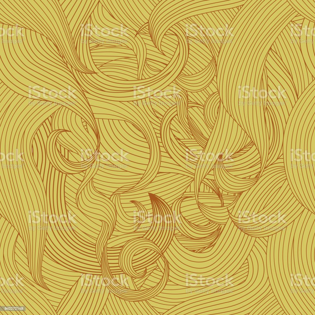 Seamless Backgroung Hair Texture vector art illustration