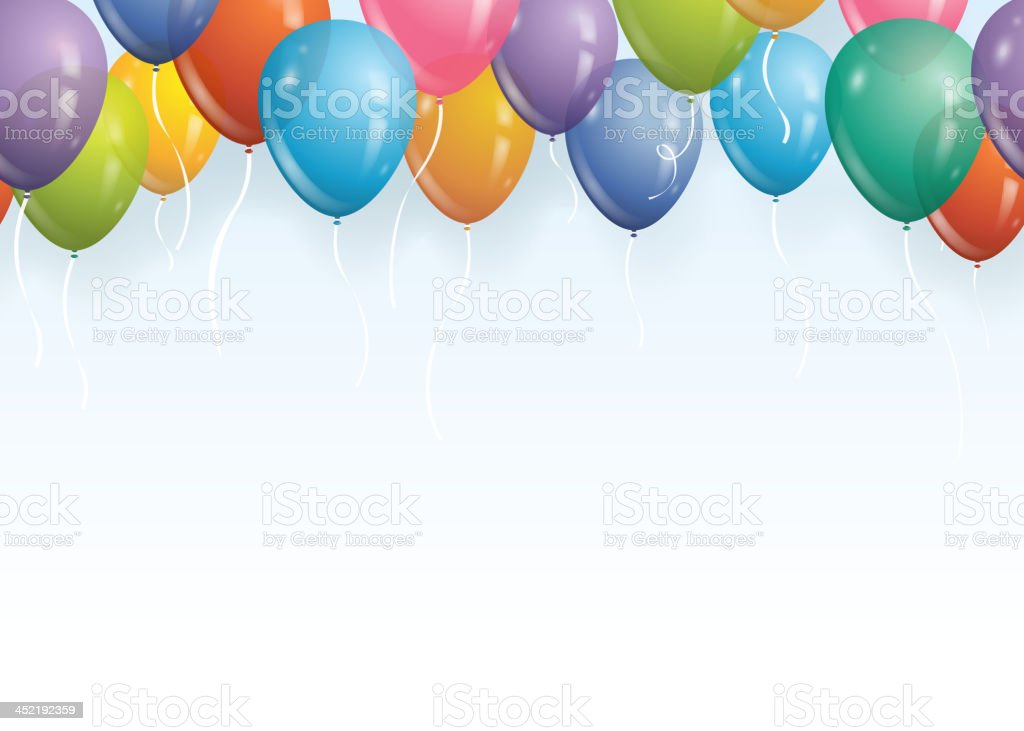 Seamless balloon background vector art illustration