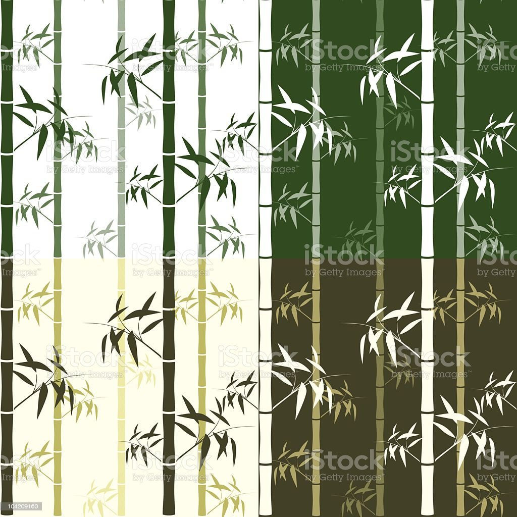 Seamless bamboo pattern royalty-free stock vector art