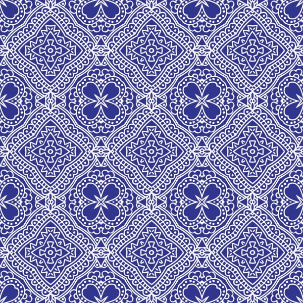 Seamless bandana pattern vector art illustration