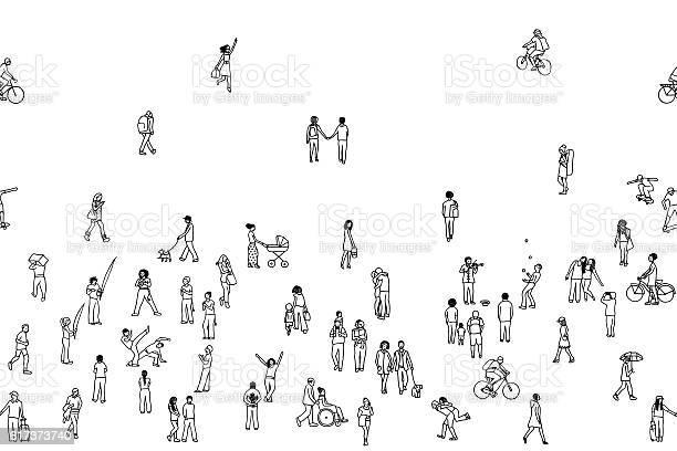 Seamless banner of tiny people can be tiled horizontally vector id617373740?b=1&k=6&m=617373740&s=612x612&h=9nht1w2ow4imnzi8zyai8feclz8qheaysi ub73eurc=