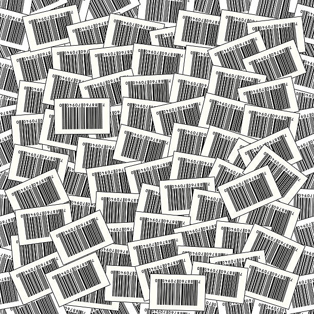Seamless Barcode Vector Background vector art illustration