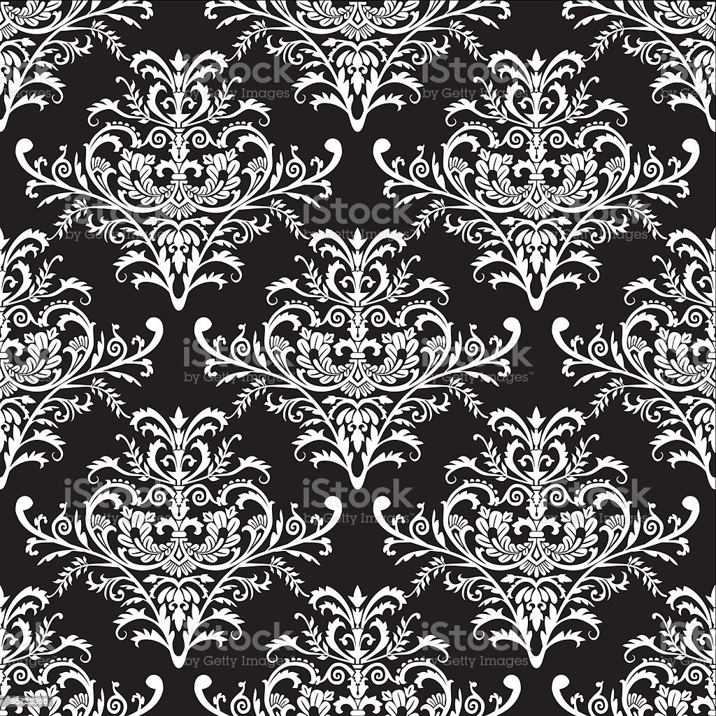 Seamless baroque pattern, vector illustration vector art illustration
