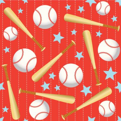 Seamless baseball background