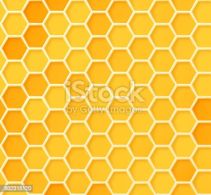 Seamless beehive honeycomb pattern background.