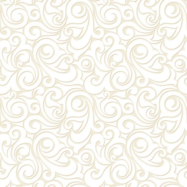 Nahtlose Beige Muster. Vektor-Illustration. – Vektorgrafik