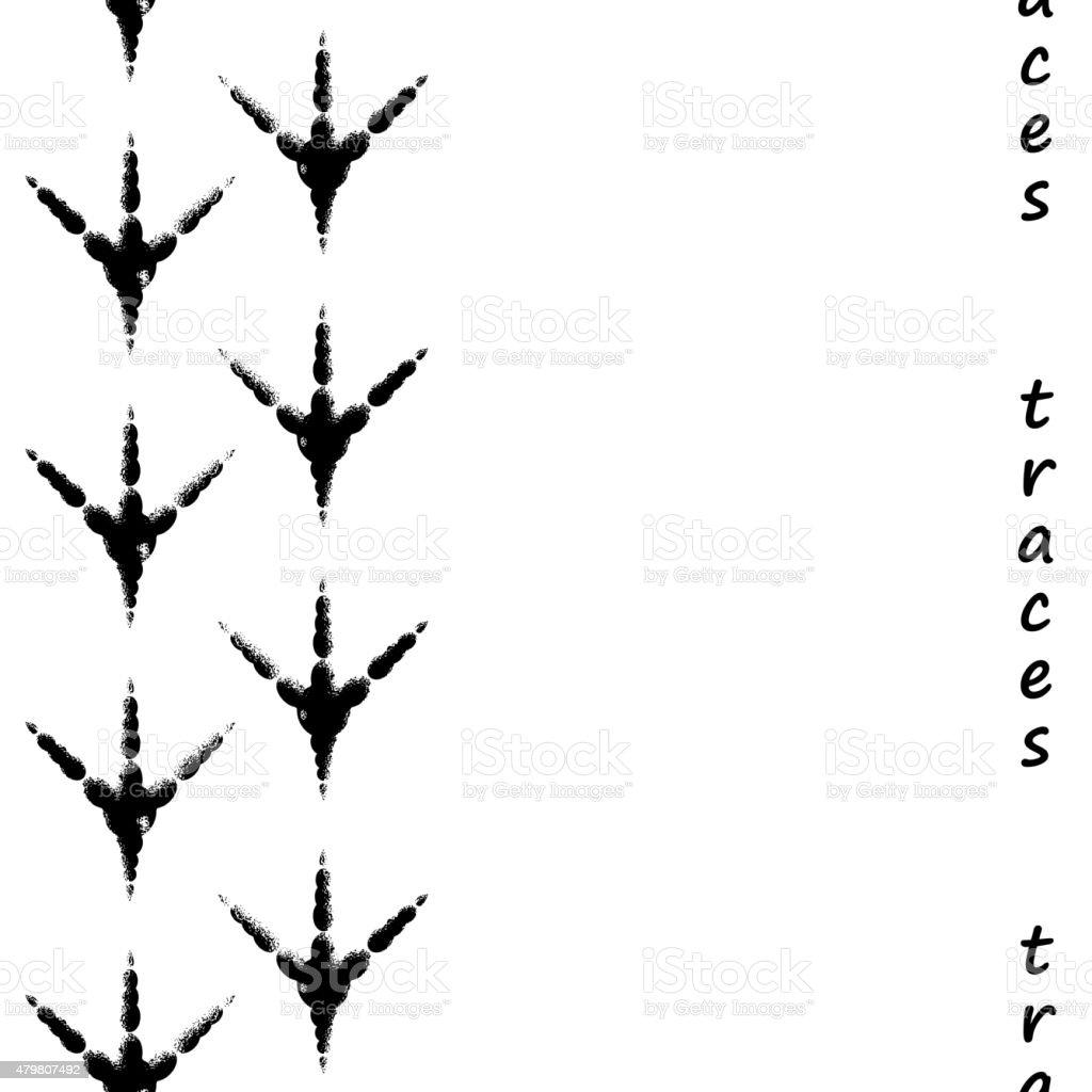 Ilustración de Costuras Huellas Pájaro y más banco de imágenes de ...