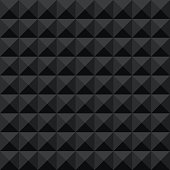 Seamless black abstract geometric dark shadow facet pattern