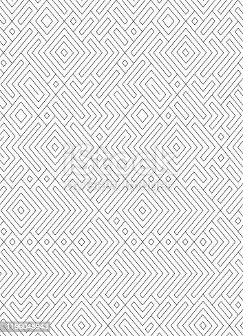seamless  black and white  contour pattern