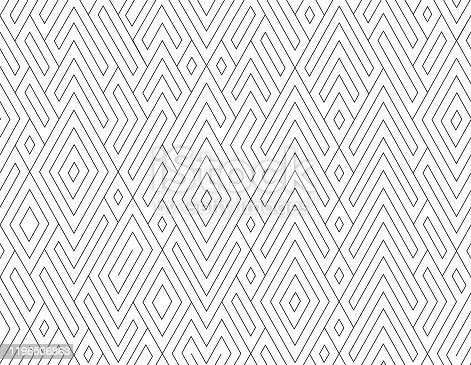 seamless  black and white  contour pattern