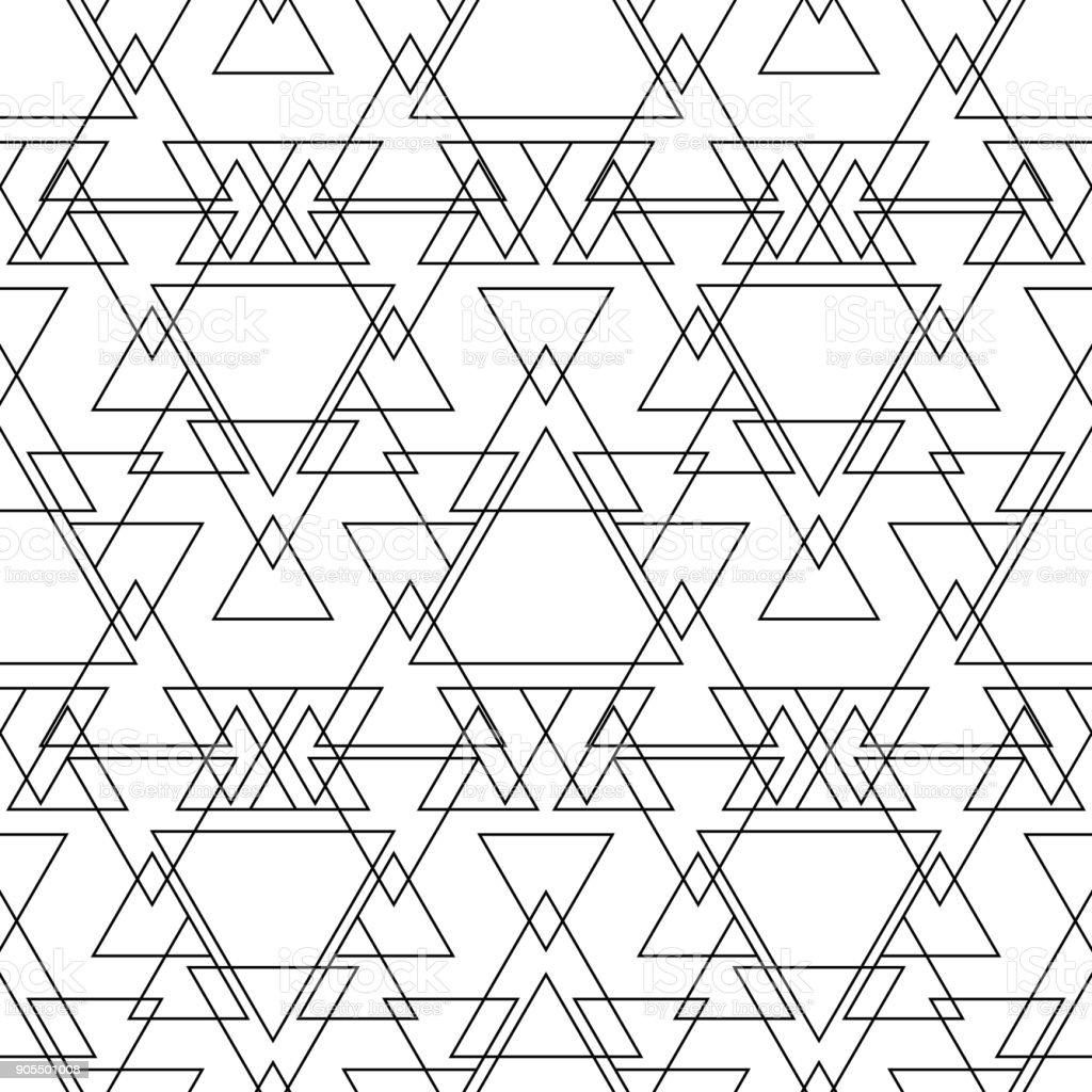 Seamless Black And White Minimal Geometric Pattern Vector