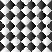Seamless black and white padded upholstery vector pattern texture