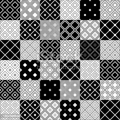istock seamless  black and white  patchwork  doodle  pattern 1304598640