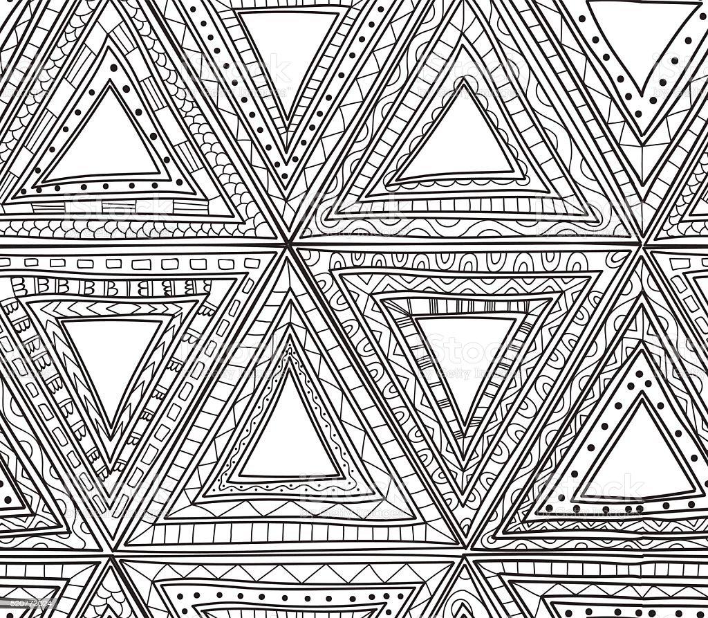 Ilustración de Sin Costura Blanco Y Negro De Patrones De Triángulos ...
