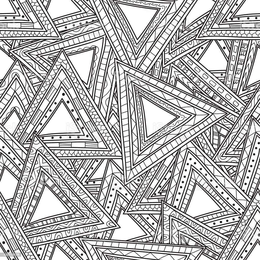 Sin Costura Blanco Y Negro De Patrones De Triángulos Página Para ...