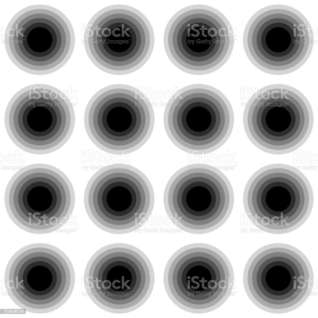Seamless black and white texture with circles. vector art illustration